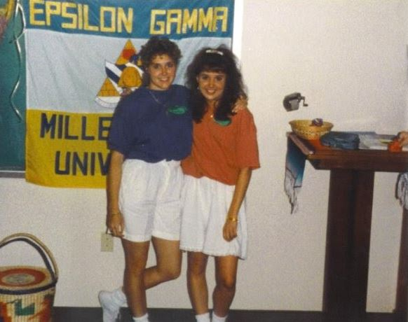 Journalism teacher Ms. Miller and her soroity sister definitely rocked the baggy look in the 90s.