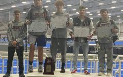 (Left to right) Christian Eberhart, Royce Hall, Noah Hall, Colin Dupill, and Mason Barrett after winning the State championship.