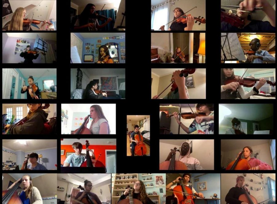 During their virtual Winter concert, the Chamber Orchestra is playing