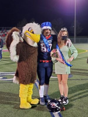 Seniors Jordan Hicks and Daphne Daymude were announced Homecoming King and Queen at the Bird Bowl.