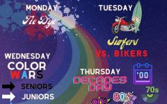 All week spirit celebration begins with Tie Dye day on September 27th