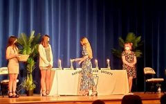 LHS students participated in the NHS induction ceremony on October 4th. Photo courtesy of Ms. Corbin