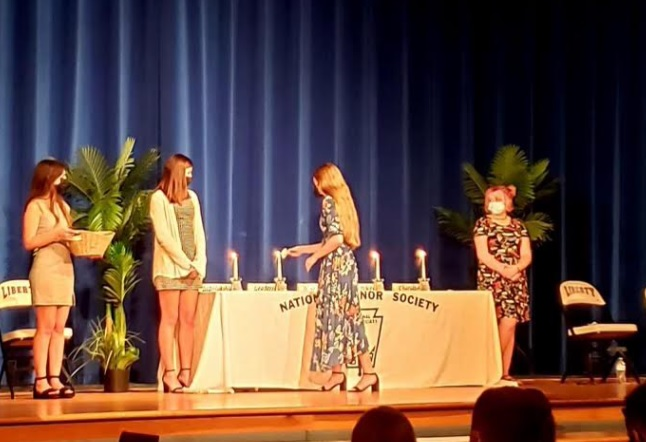 LHS+students+participated+in+the+NHS+induction+ceremony+on+October+4th.+Photo+courtesy+of+Ms.+Corbin
